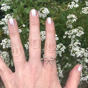 Rose Gold Bow Jewelmint Ring sz 8
